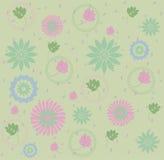 Reticolo dei fogli & dei fiori illustrazione vettoriale