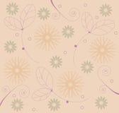 Reticolo dei fogli & dei fiori illustrazione di stock