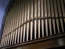 Reticolo dei tubi di organo della chiesa. fotografia stock libera da diritti
