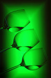Reticolo dei vetri di vino Fotografie Stock