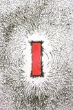 Reticolo del campo magnetico Fotografia Stock
