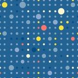 Reticolo del cerchio La ripetizione punteggia intorno a fondo astratto per la carta di parete Progettazione minimalistic piana Fotografia Stock Libera da Diritti