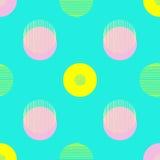 Reticolo del cerchio La ripetizione punteggia intorno a fondo astratto per la carta di parete Progettazione minimalistic piana Fotografie Stock