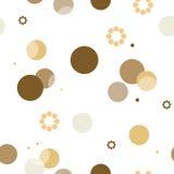Reticolo del cerchio struttura alla moda moderna Ripetizione del punto, fondo astratto rotondo per la carta di parete illustrazione di stock