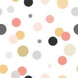 Reticolo del cerchio struttura alla moda moderna Ripetizione del punto, spirale, fondo astratto rotondo per la carta di parete Fotografia Stock Libera da Diritti