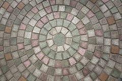 Reticolo del cobblestone di Circuilar Immagine Stock