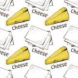Reticolo del formaggio illustrazione vettoriale