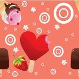 Reticolo del gelato Fotografie Stock