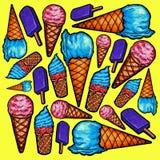 Reticolo del gelato Immagini Stock