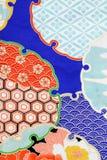 Reticolo del kimono Fotografia Stock Libera da Diritti