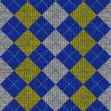 Reticolo del knitwork del Tartan Fotografia Stock