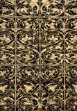 Reticolo del ornamental di Goldleaf immagini stock