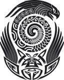 Reticolo del tatuaggio dello Snake-bird Fotografia Stock Libera da Diritti
