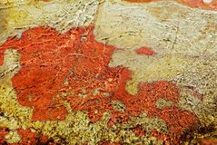 Reticolo dell'acqua in canyon rosso della roccia Fotografia Stock