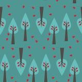 Reticolo dell'albero su priorità bassa verde Illustrazione di Stock
