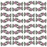 Reticolo dell'annata Un modello con le ghirlande del fiore illustrazione di stock