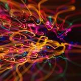Reticolo dell'indicatore luminoso della sfuocatura di movimento. Fotografia Stock