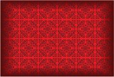 Reticolo della carta da parati di vettore colorato rosso Fotografie Stock