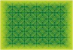 Reticolo della carta da parati di vettore colorato verde Immagini Stock