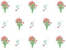 Reticolo della carta da parati floreale Fotografia Stock Libera da Diritti