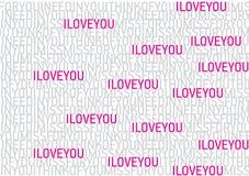 Reticolo della fonte tipografica di amore Fotografie Stock Libere da Diritti