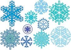 Reticolo della neve di inverno Fotografie Stock Libere da Diritti