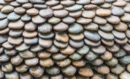 Reticolo della parete della pietra della ghiaia Immagini Stock