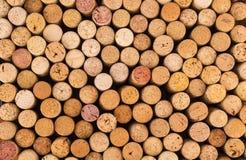 Reticolo della priorità bassa dei sugheri delle bottiglie di vino Immagini Stock