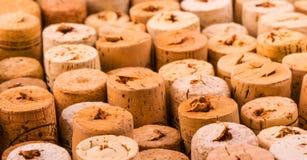 Reticolo della priorità bassa dei sugheri delle bottiglie di vino Immagine Stock Libera da Diritti