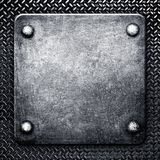 Reticolo della priorità bassa del metallo Fotografia Stock