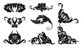 Reticolo della siluetta del fiore royalty illustrazione gratis
