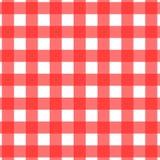 Reticolo della tovaglia di picnic Fotografie Stock