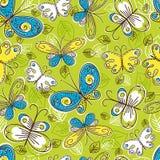 Reticolo delle farfalle di tiraggio della mano, vettore illustrazione vettoriale