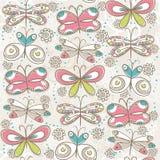 Reticolo delle farfalle di tiraggio della mano, vettore royalty illustrazione gratis