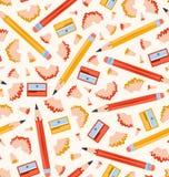 Reticolo delle matite Fotografia Stock