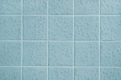 Reticolo delle mattonelle blu Fotografie Stock