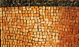 Reticolo delle mattonelle delle mattonelle di ceramica antiche Fotografie Stock