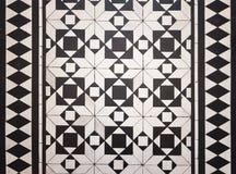 Reticolo delle mattonelle di pavimento di stile del Victorian fotografie stock