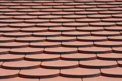 Reticolo delle mattonelle di tetto Fotografia Stock Libera da Diritti