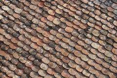Reticolo delle mattonelle di tetto Fotografie Stock Libere da Diritti