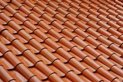 Reticolo delle mattonelle di tetto Fotografie Stock