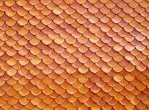 Reticolo delle mattonelle di tetto rosse Fotografia Stock