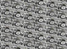Reticolo delle rotelle di attrezzo Fotografia Stock