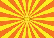 Reticolo dello starburst di colore giallo arancione Immagini Stock