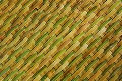 Reticolo di bambù del tessuto Fotografia Stock