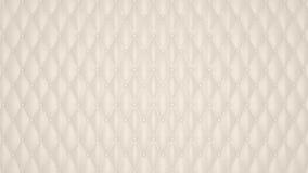 Reticolo di cuoio abbottonato lusso beige Fotografia Stock Libera da Diritti