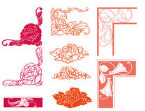 Reticolo di fiore illustrazione di stock