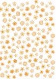 Reticolo di fiore astratto illustrazione di stock