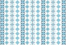 Reticolo di fiore blu Fotografie Stock