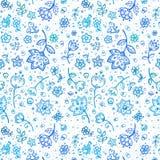 reticolo di fiore dell'Mano-illustrazione Immagine Stock